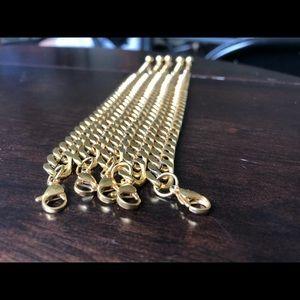 Men's curb link bracelet